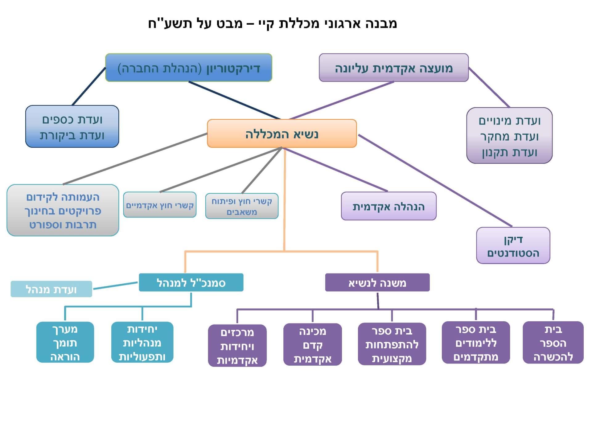 תמונה מבנה ארגוני קיי