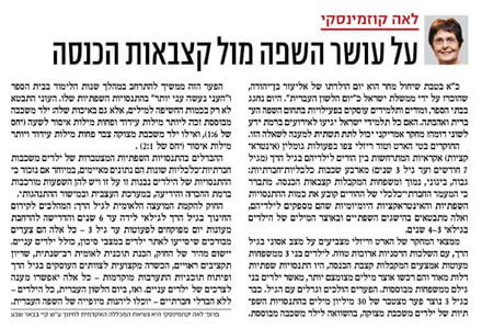 About Wealth of Language Vs. Income Stipends - Israel Hayom