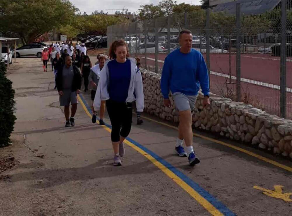 בוקר של בריאות וספורט השקת מסלול הליכה